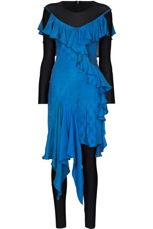 Marine Serre Damen Partykleider - Aquanaut silk draped dress