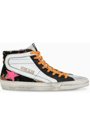 Golden Goose Slide sneakers with pony leather detail