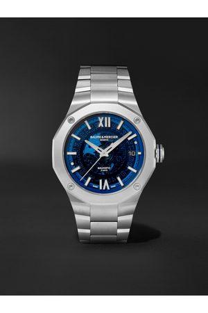 Baume & Mercier Herren Uhren - Riviera Automatic 42mm Stainless Steel Watch, Ref. No. M0A10616