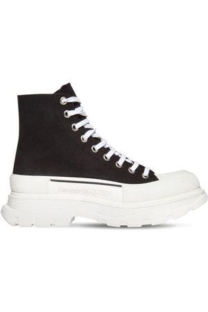 Alexander McQueen 50mm Hohe Sneakers Aus Baumwollcanvas