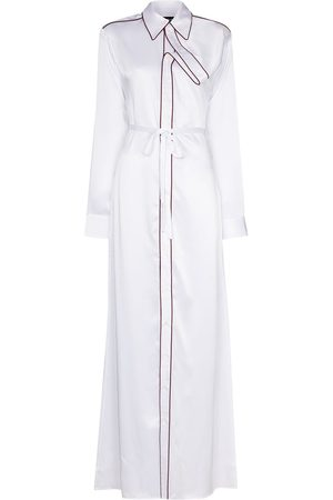 Y / PROJECT Damen Asymmetrische Kleider - Asymmetric placket maxi shirt dress