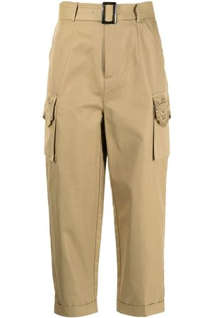 BAPY BY *A BATHING APE® Damen Capris - Belted cropped trousers