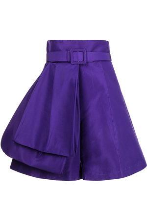 Azzi & Osta Damen Shorts - Draped silk bermuda shorts