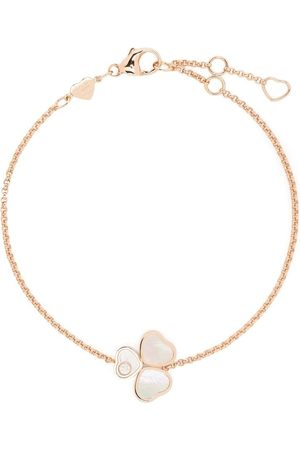 Chopard Damen Armbänder - 18kt rose gold Happy Hearts Wings diamond and mother-of-pearl bracelet
