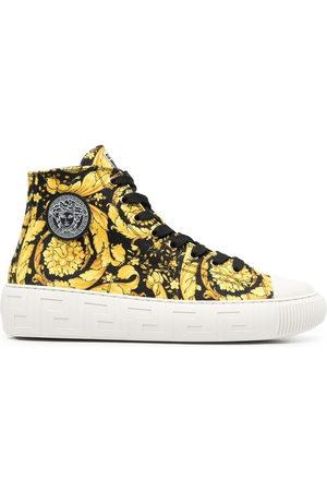 Versace Herren Sneakers - Barocco-print high-top sneakers