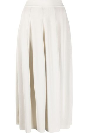Gentry Portofino Damen Faltenröcke - High-waisted pleated skirt - Nude