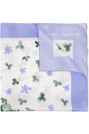 Emporio Armani Kids Mädchen Schals - Silk clover and floral-print scarf
