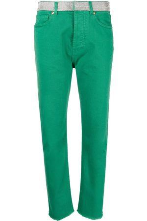 Alexandre Vauthier Embellished-band jeans