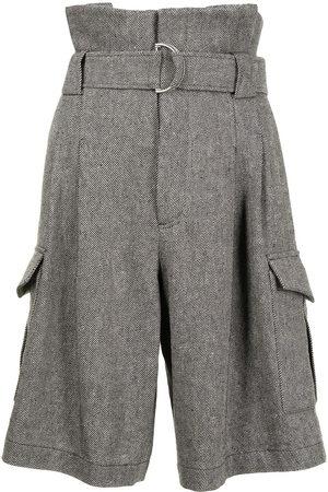 GOEN.J Damen Shorts - Shorts mit Paperbag-Taille