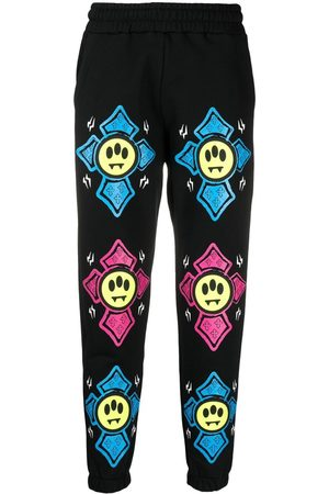 BARROW Graphic-print mid-rise track pants