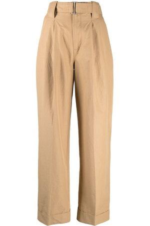 Ganni Pleat-detail wide-leg trousers - Nude