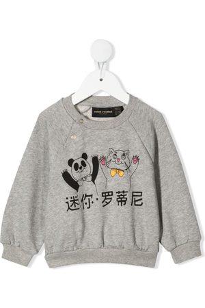 Mini Rodini Sweatshirt mit Panda und Katze