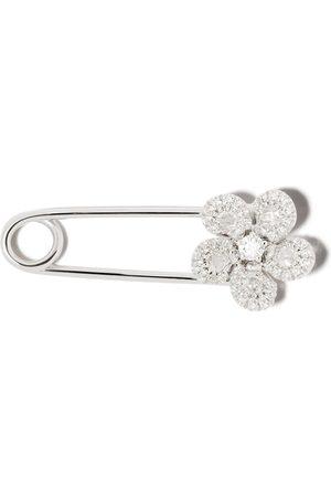 David Morris 18kt 'Miss Daisy Flower' Weißgoldbrosche mit Diamanten - WHITE
