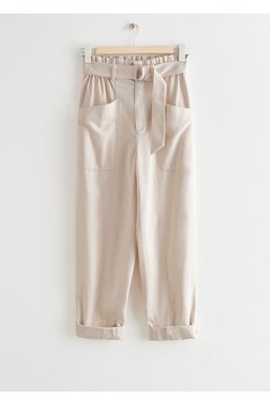 & OTHER STORIES Damen Tapered - Relaxed Paperbag Waist Trousers