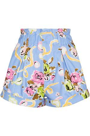 Alessandra Rich Damen Shorts - Bedruckte Shorts aus Baumwolle