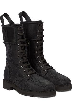 Fendi Damen Stiefeletten - Ankle Boots Signature aus Canvas