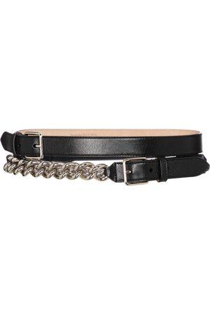 Alexander McQueen Damen Gürtel - Verzierter Gürtel aus Leder