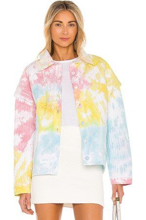 LOVESHACKFANCY Adelade Jacket in ,Yellow,Blue. Size S, XS, M.
