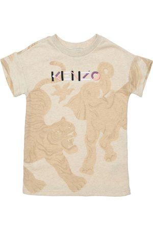 KENZO KIDS Kleid Aus Baumwolle Mit Druck