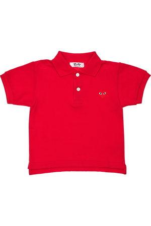 Comme des Garçons Jungen Poloshirts - Polohemd Aus Baumwollpiqué Mit Logostickerei