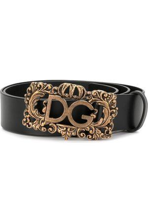 Dolce & Gabbana Herren Gürtel - Gürtel mit barocker Schnalle