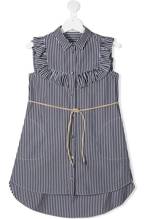 Brunello Cucinelli Ruffled-collar shirt dress