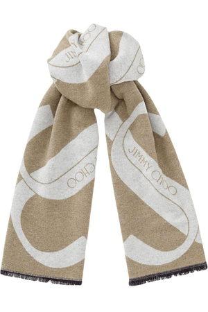 Jimmy Choo Jordyn logo-embellished scarf