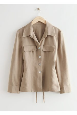 & OTHER STORIES Buttoned Fitted Waist Jacket