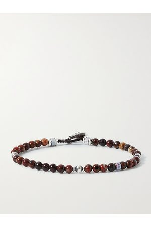 Mikia Herren Armbänder - Kambaba Jasper and Sterling Silver Beaded Bracelet