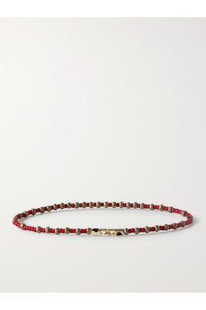 LUIS MORAIS Herren Armbänder - Bead and 14-Karat Gold Bracelet