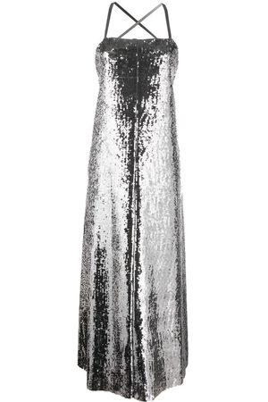 JUNYA WATANABE Damen Lange Kleider - Maxikleid im Metallic-Look