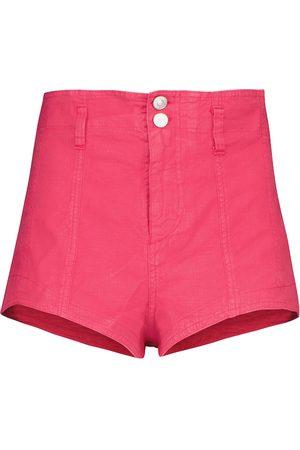 Isabel Marant Damen Shorts - Shorts Deverson mit Leinenanteil