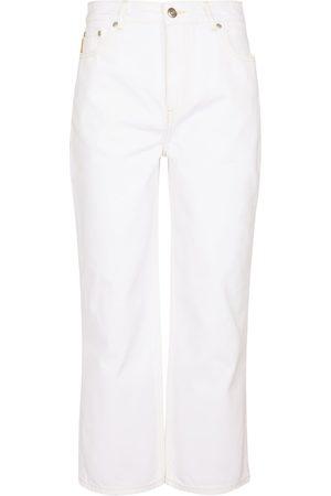 Ganni Damen High Waisted - High-Rise Cropped Jeans