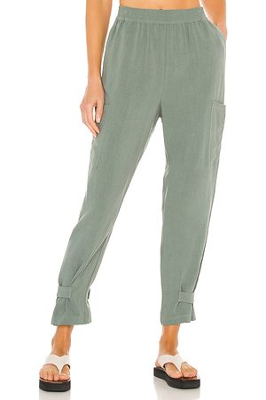 Bobi BLACK Indio Linen Pant in . Size XS, S, M.