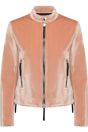 Giuseppe Zanotti Velvet zip-up jacket