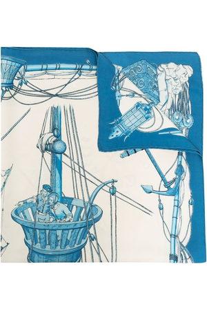 Hermès Pre-owned nautical print silk scarf - Nude