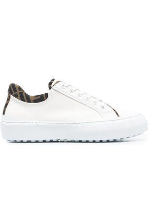 Fendi FF-trim leather sneakers