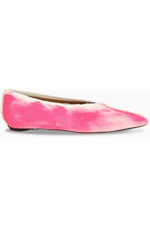 Marni Pink and white pointed ballerinas