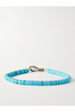 Mikia Magnesite and Silver-Tone Beaded Bracelet