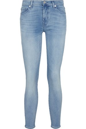 7 for all Mankind Mid-Rise Jeans The Skinny B(AIR)
