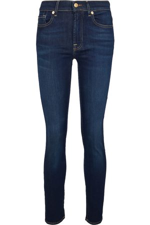 7 for all Mankind Mid-Rise Slim Jeans Roxanne