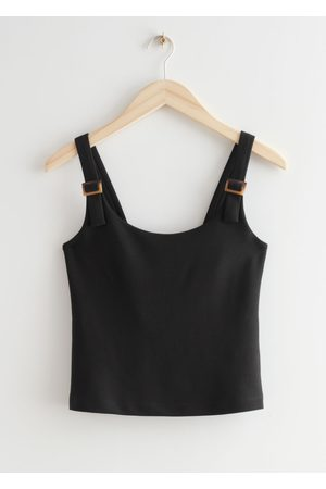 & OTHER STORIES Tortoise Buckle Tank Top - Black