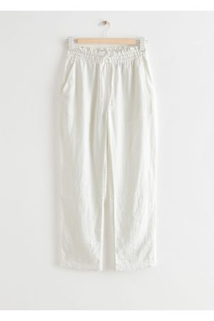 & OTHER STORIES Relaxed Linen Trousers - White