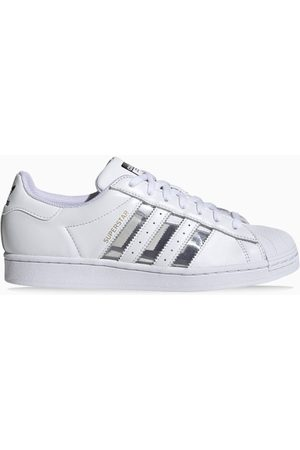 adidas White/silver Superstar sneakers