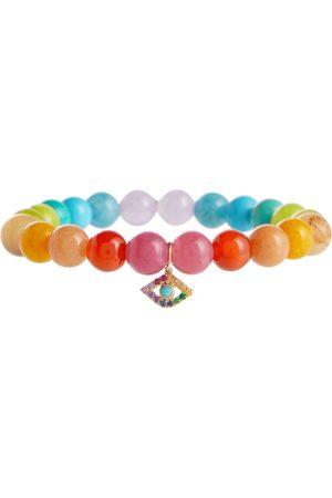 Sydney Evan Armband Rainbow aus Jade mit 14kt Gelbgold