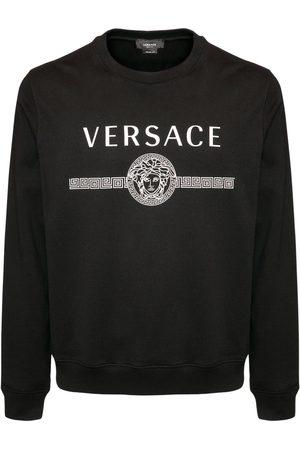 VERSACE Sweatshirt Aus Baumwolle Mit Logodruck