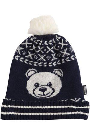 Moschino Mädchen Hüte - Beaniemütze Aus Wollmischstrick