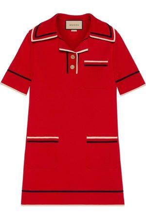Gucci Kleid im Polostil aus feinem Baumwollstrick