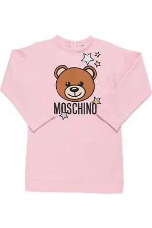 Moschino Kleid Aus Baumwollfleece Mit Patch
