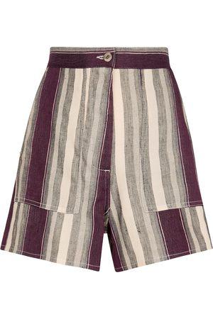 Loewe Paula's Ibiza Shorts aus einem Leinengemisch